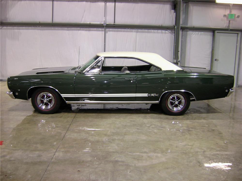 1968 PLYMOUTH GTX 2 DOOR HARDTOP - Side Profile - 81900