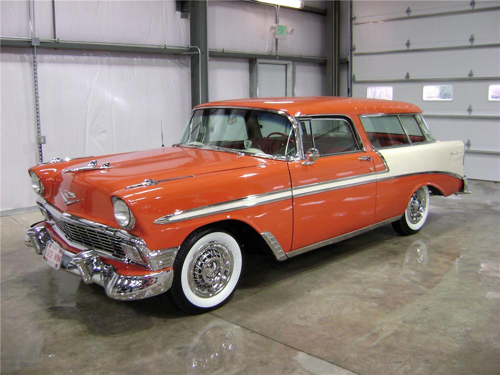 1956 CHEVROLET NOMAD WAGON - Front 3/4 - 81905
