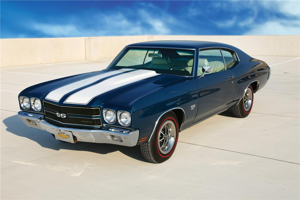 1970 CHEVROLET CHEVELLE SS 396 2 DOOR COUPE - Front 3/4 - 81913