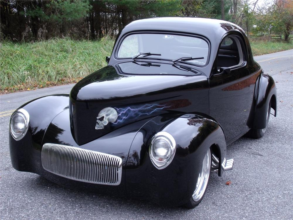 1941 WILLYS AMERICAR CUSTOM COUPE - Front 3/4 - 81958