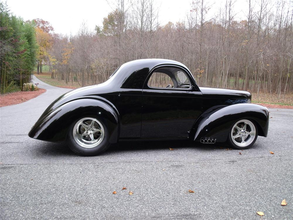 1940 Chevy Pickup Truck For Sale 1941 WILLYS AMERICAR CUSTOM COUPE - Side Profile - 81958