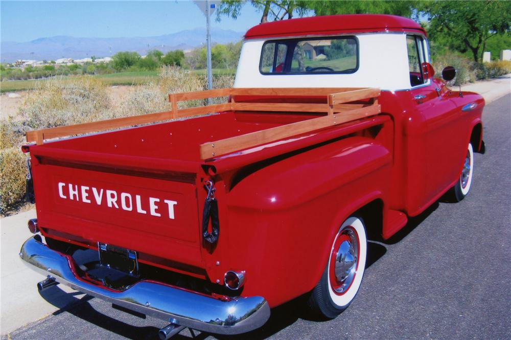 1957 CHEVROLET 3100 PICKUP - Rear 3/4 - 81960