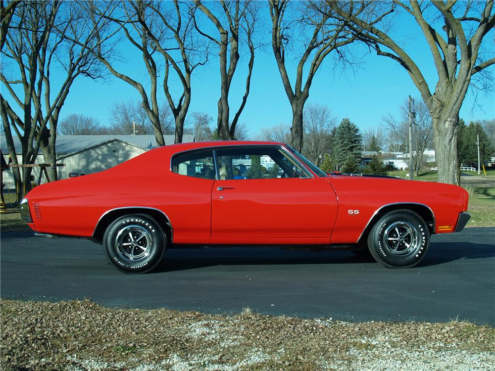1970 CHEVROLET CHEVELLE SS 454 2 DOOR HARDTOP - Side Profile - 81962