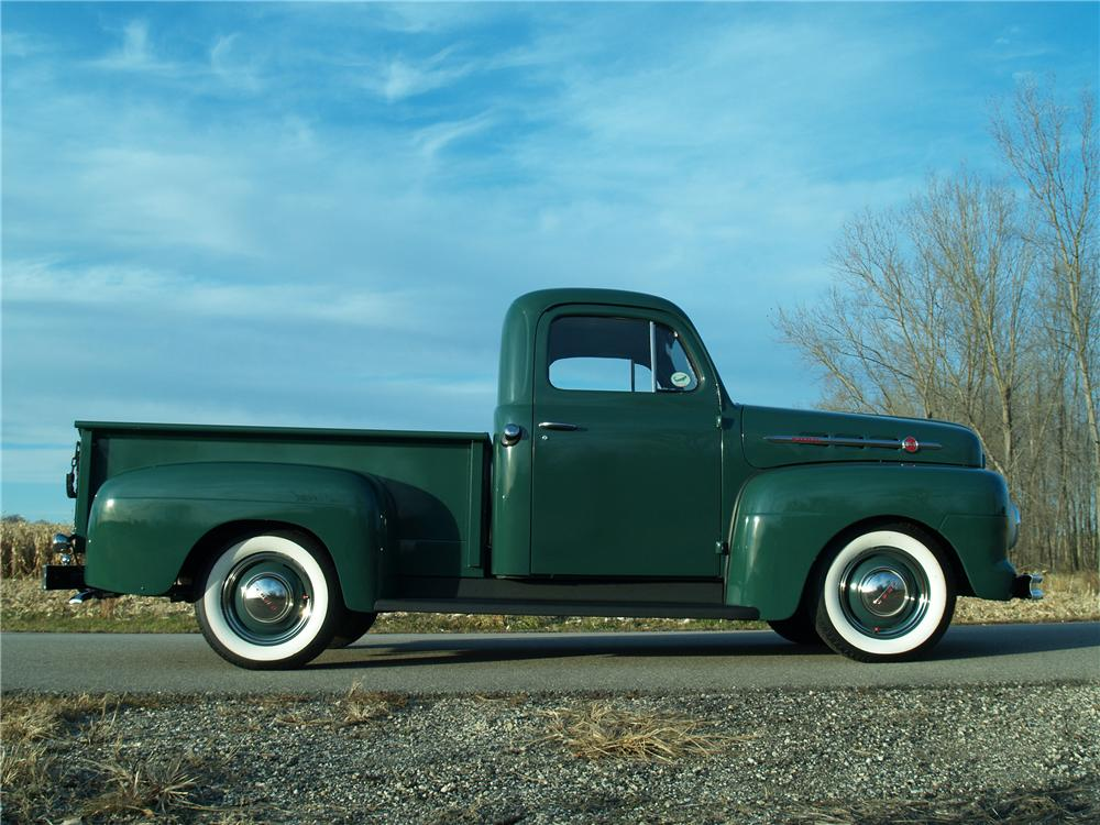 1951 FORD F-1 PICKUP - Side Profile - 81963