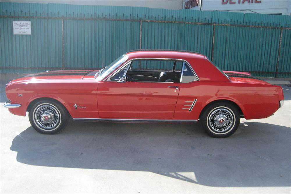 1966 FORD MUSTANG 2 DOOR COUPE - Side Profile - 81964