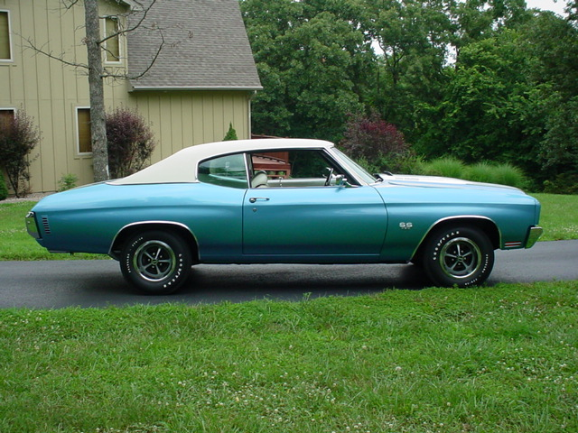 1970 CHEVROLET CHEVELLE 2 DOOR HARDTOP - Side Profile - 81972