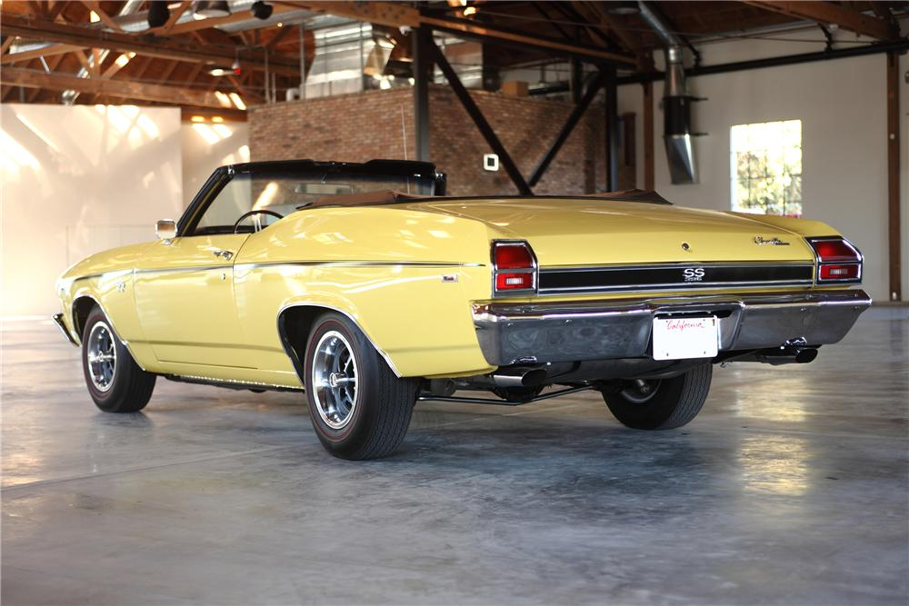 1969 CHEVROLET CHEVELLE SS CONVERTIBLE - Rear 3/4 - 81974