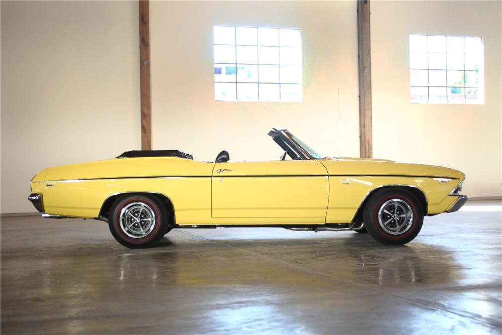 1969 CHEVROLET CHEVELLE SS CONVERTIBLE - Side Profile - 81974