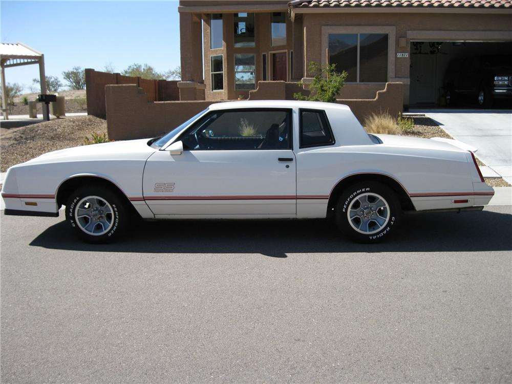1987 CHEVROLET MONTE CARLO SS 2 DOOR HARDTOP - Side Profile - 81987