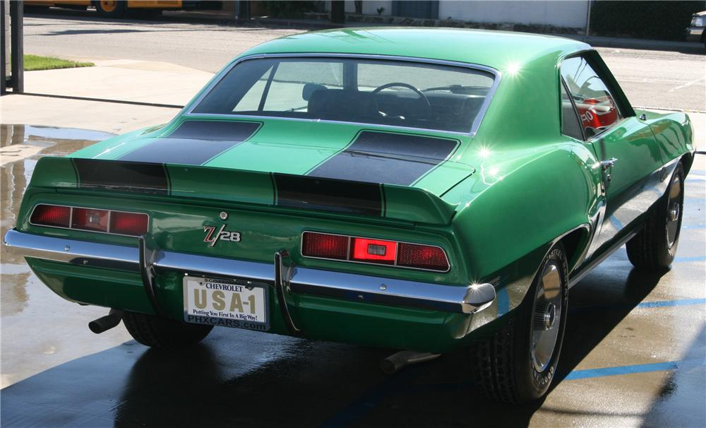 1969 CHEVROLET CAMARO Z/28 2 DOOR COUPE - Rear 3/4 - 81991