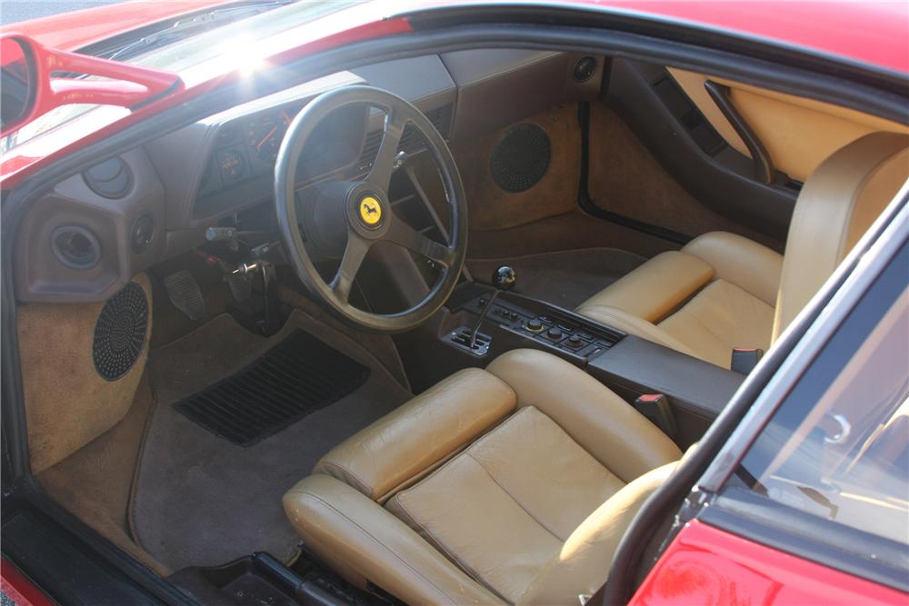 1986 FERRARI TESTAROSSA 2 DOOR COUPE - Interior - 82003