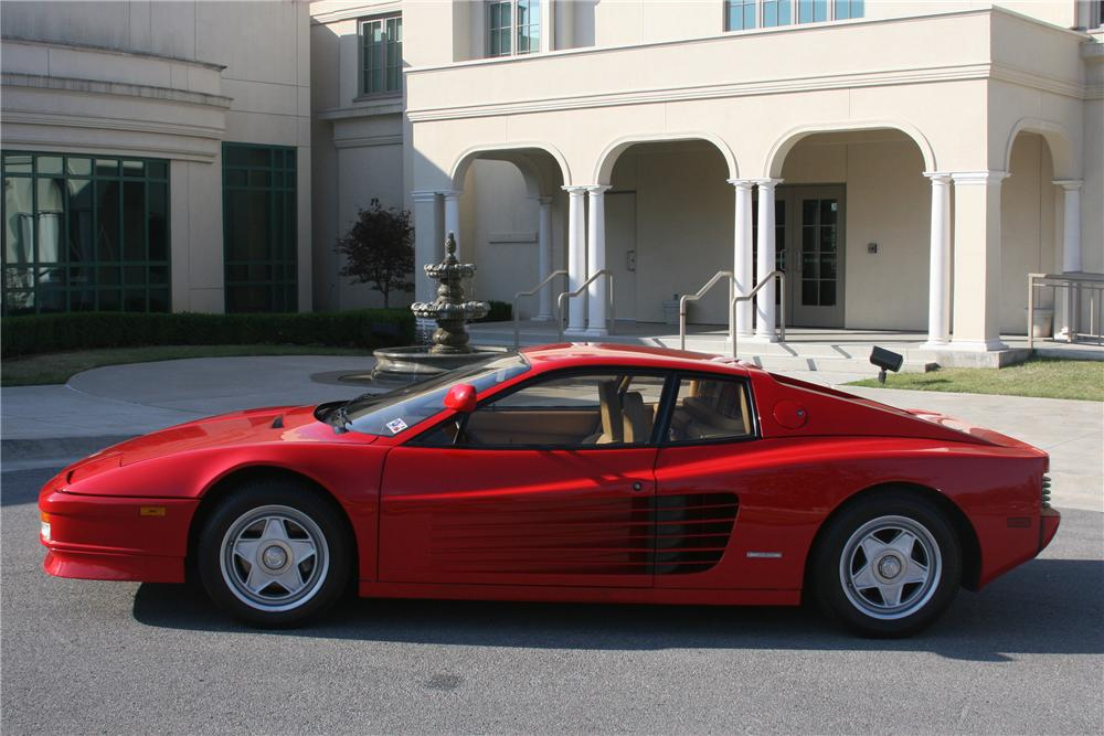 1986 FERRARI TESTAROSSA 2 DOOR COUPE - Side Profile - 82003