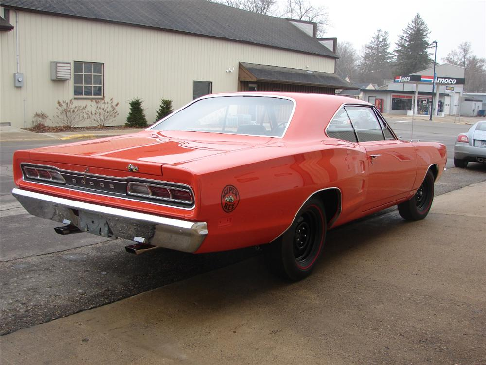 1969 DODGE SUPER BEE 2 DOOR COUPE - Rear 3/4 - 82004