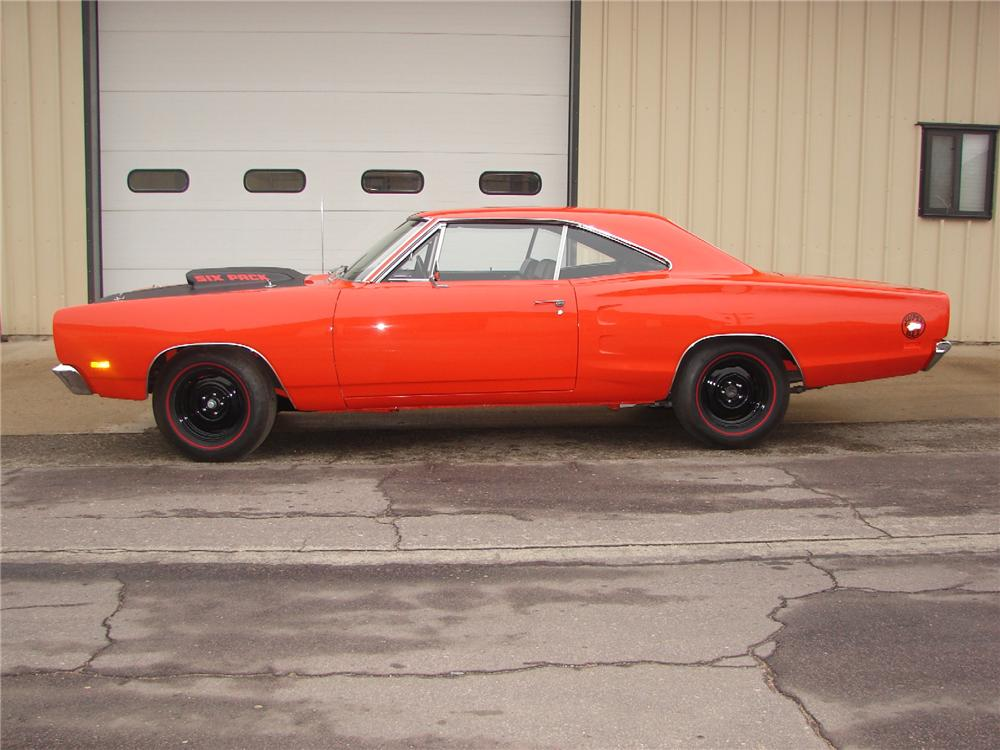 1969 DODGE SUPER BEE 2 DOOR COUPE - Side Profile - 82004