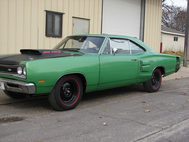 1969 DODGE SUPER BEE 2 DOOR COUPE - Side Profile - 82005