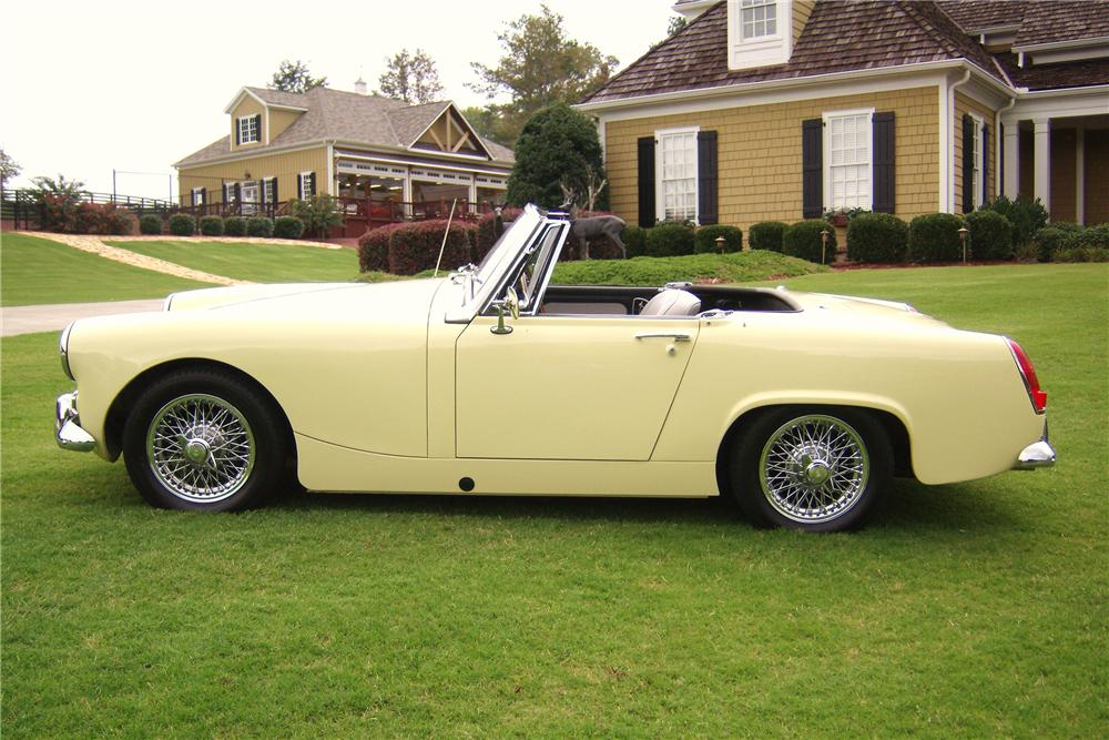 1966 MG MIDGET CONVERTIBLE - Side Profile - 82008