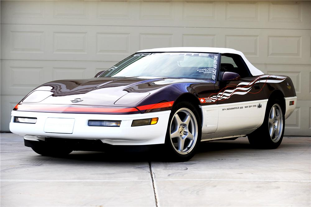 1995 CHEVROLET CORVETTE INDY PACE CAR CONVERTIBLE - Front 3/4 - 82011