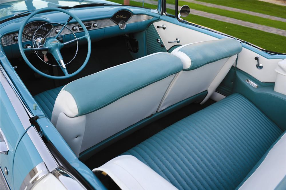 1955 CHEVROLET BEL AIR 2 DOOR CONVERTIBLE - Interior - 82012