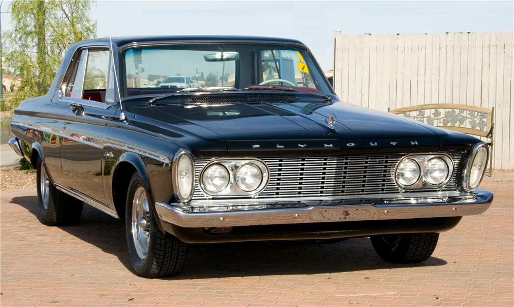 1963 PLYMOUTH SPORT FURY MAX WEDGE RE-CREATION - Front 3/4 - 82016