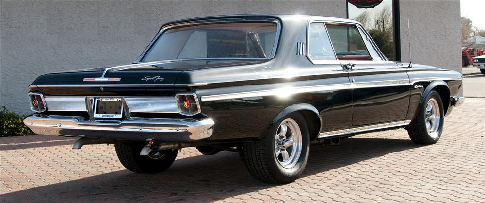 1963 PLYMOUTH SPORT FURY MAX WEDGE RE-CREATION - Rear 3/4 - 82016