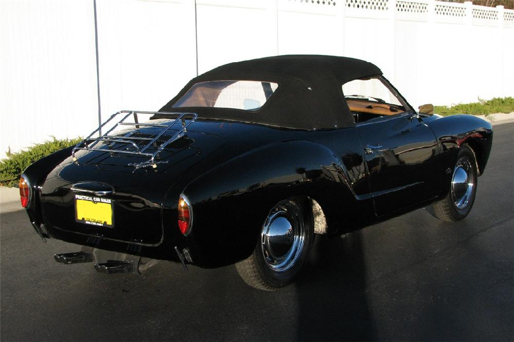 1963 VOLKSWAGEN KARMANN GHIA CONVERTIBLE - Rear 3/4 - 82027