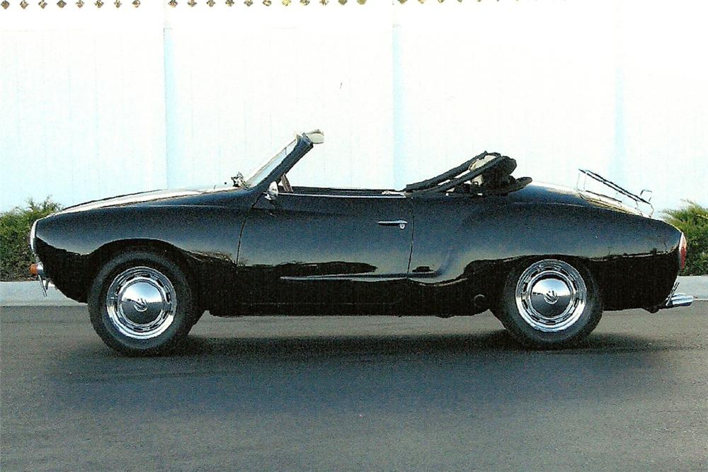 1963 VOLKSWAGEN KARMANN GHIA CONVERTIBLE - Side Profile - 82027