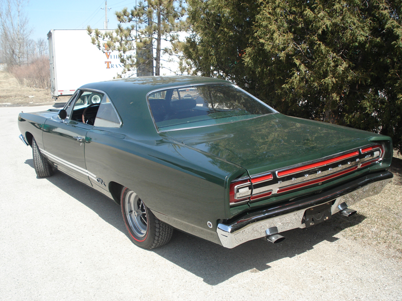 1968 PLYMOUTH GTX 2 DOOR COUPE - Rear 3/4 - 82035
