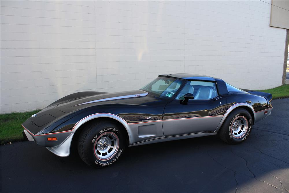 1978 CHEVROLET CORVETTE PACE CAR COUPE - Side Profile - 82045