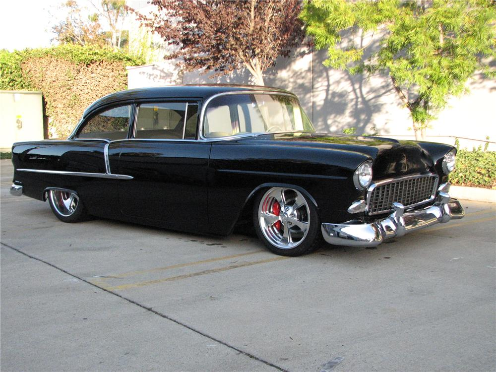 1955 CHEVROLET 210 CUSTOM COUPE - Front 3/4 - 82053