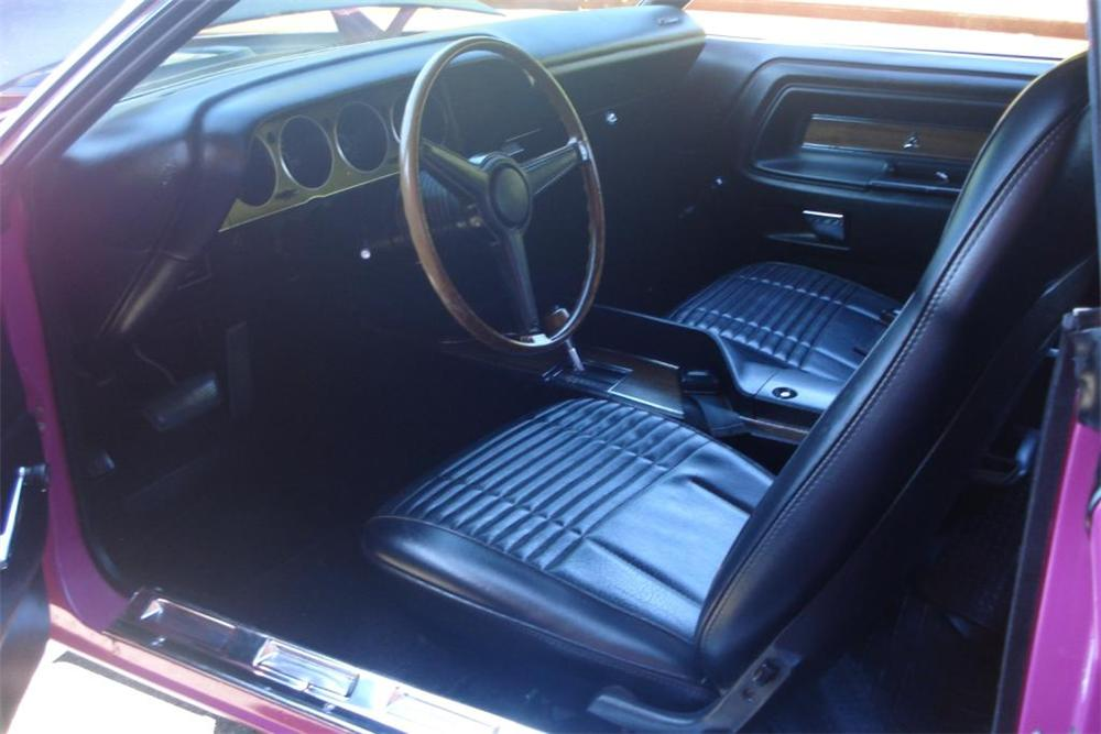 1970 DODGE CHALLENGER T/A 2 DOOR COUPE - Interior - 82055