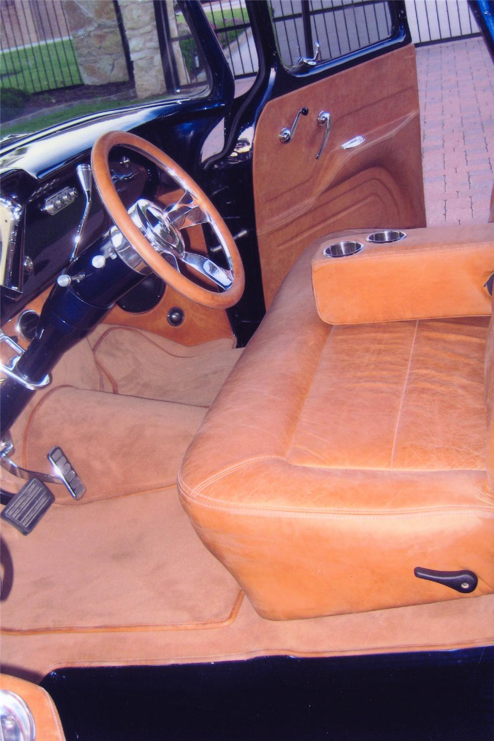 1955 CHEVROLET 3200 CUSTOM PICKUP - Interior - 82093