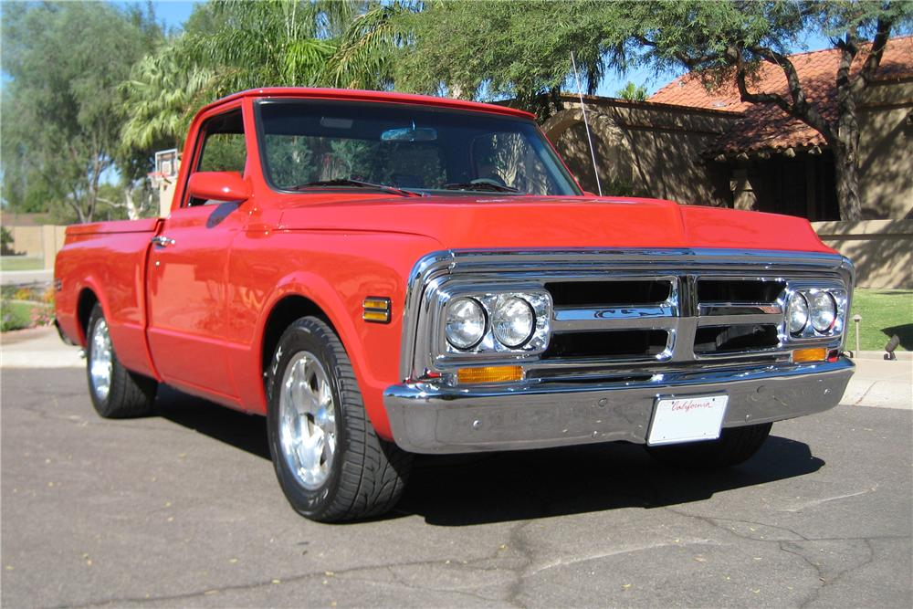 1970 GMC CUSTOM SHORTBED PICKUP - Front 3/4 - 82110