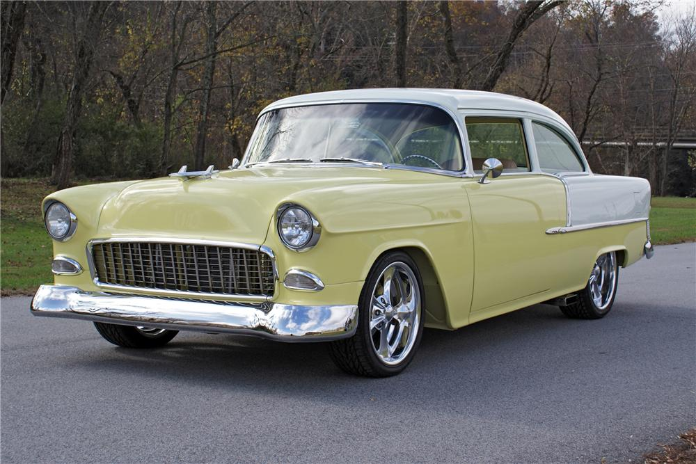 1955 CHEVROLET BEL AIR CUSTOM 2 DOOR POST - Front 3/4 - 82130
