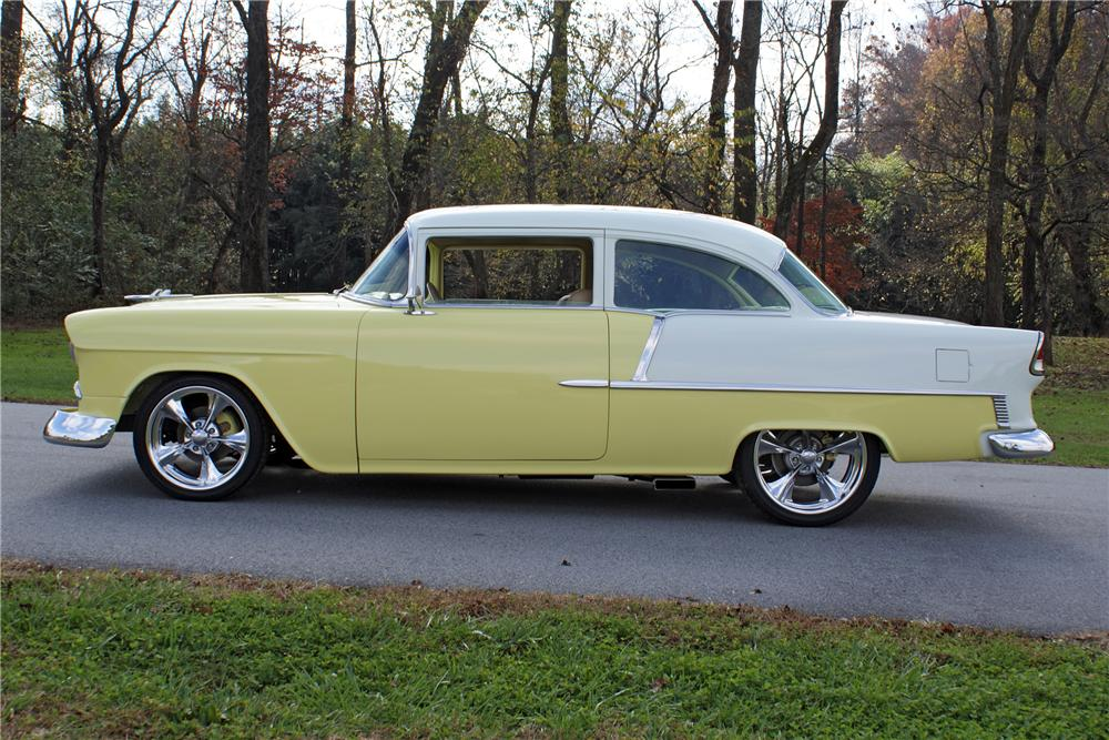 1955 chevrolet bel air custom 2 door post 82130 for 1955 chevy two door