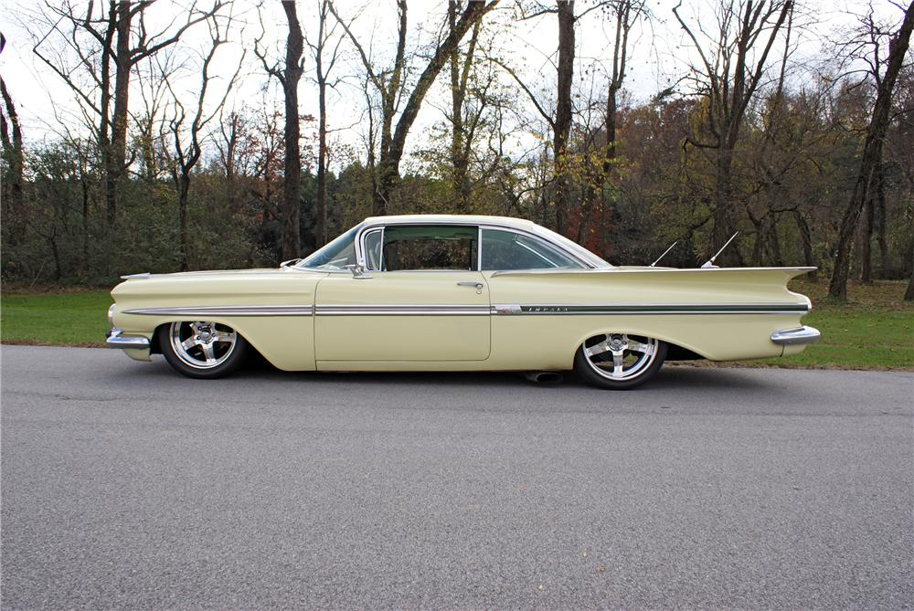 1959 CHEVROLET IMPALA 2 DOOR SPORT COUPE - Side Profile - 82131