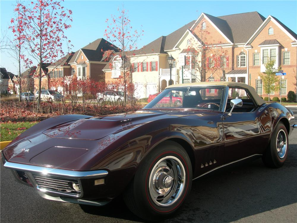 1968 CHEVROLET CORVETTE CONVERTIBLE - Front 3/4 - 82138