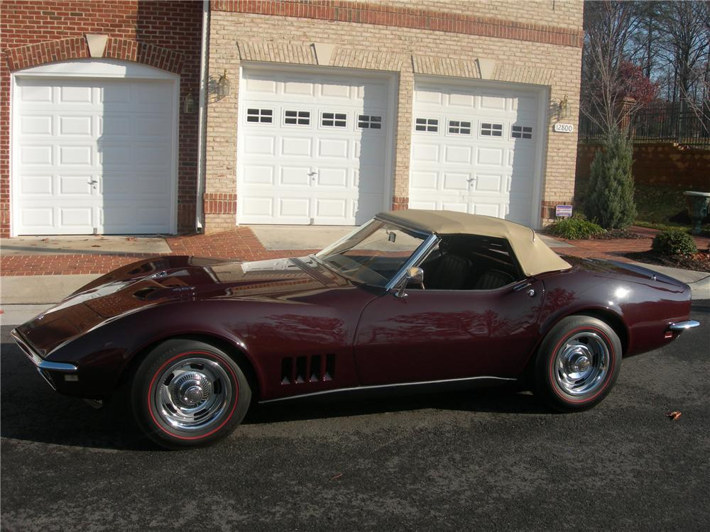 1968 CHEVROLET CORVETTE CONVERTIBLE - Side Profile - 82138