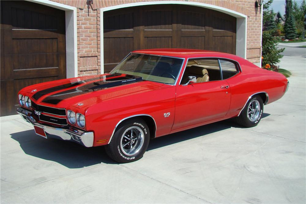 1970 CHEVROLET CHEVELLE SS 454 2 DOOR COUPE - Front 3/4 - 82140