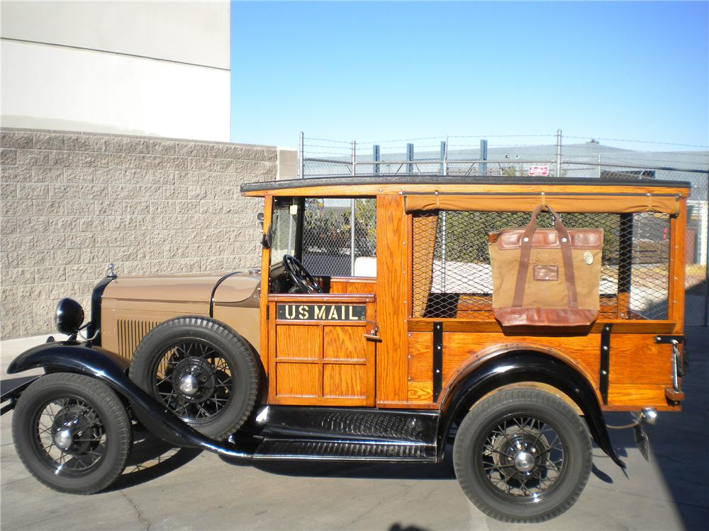 1931 FORD MODEL A MAIL TRUCK - Side Profile - 82151