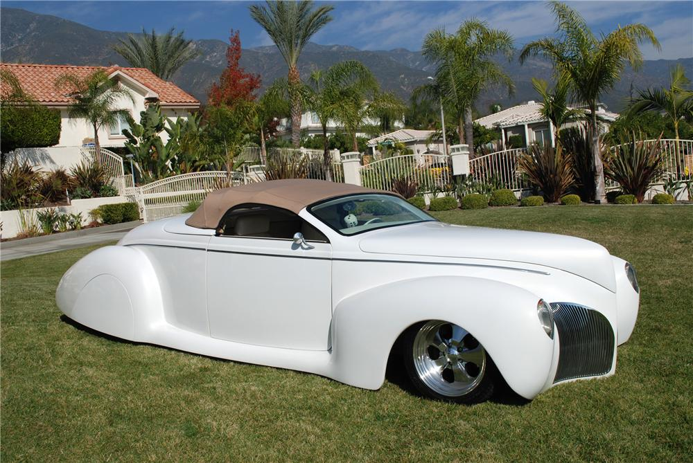 1939 LINCOLN ZEPHYR CUSTOM CONVERTIBLE - Side Profile - 82157