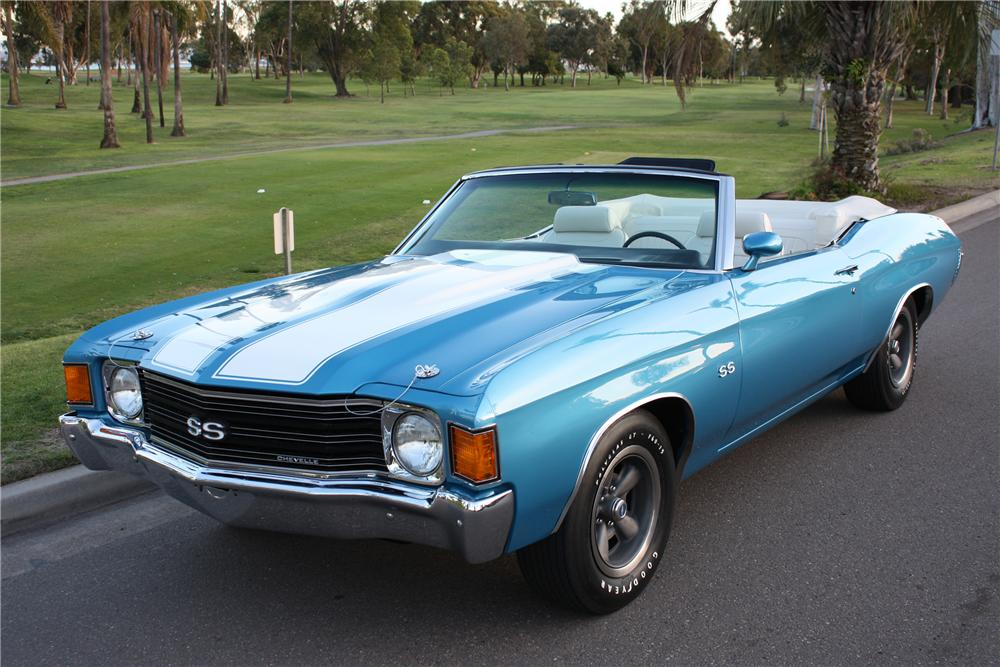 1972 CHEVROLET CHEVELLE SS CONVERTIBLE - Front 3/4 - 82165