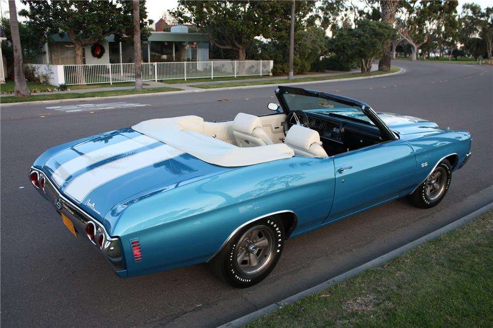 1972 CHEVROLET CHEVELLE SS CONVERTIBLE - Rear 3/4 - 82165
