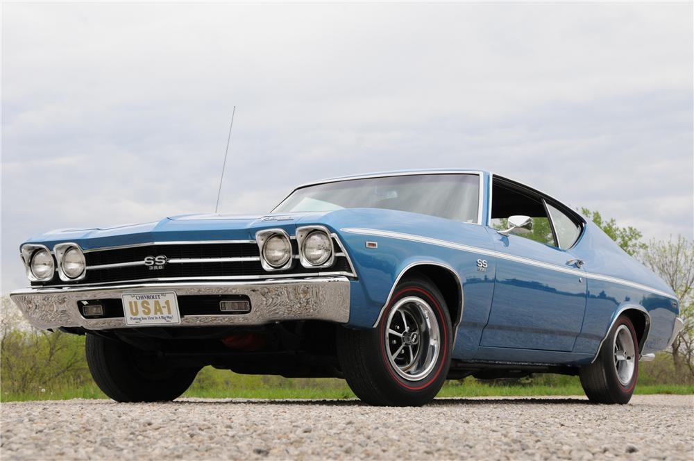 1969 CHEVROLET CHEVELLE COUPE - Front 3/4 - 82169