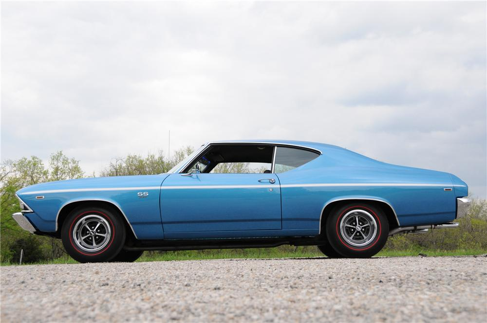 1969 CHEVROLET CHEVELLE COUPE - Side Profile - 82169