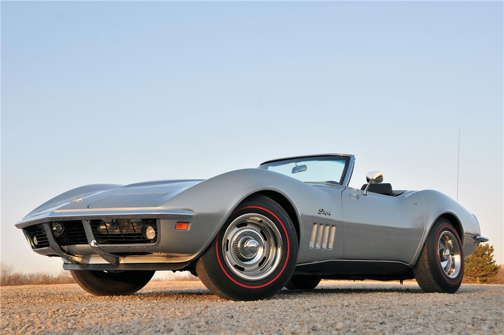 1969 CHEVROLET CORVETTE CONVERTIBLE - Front 3/4 - 82174