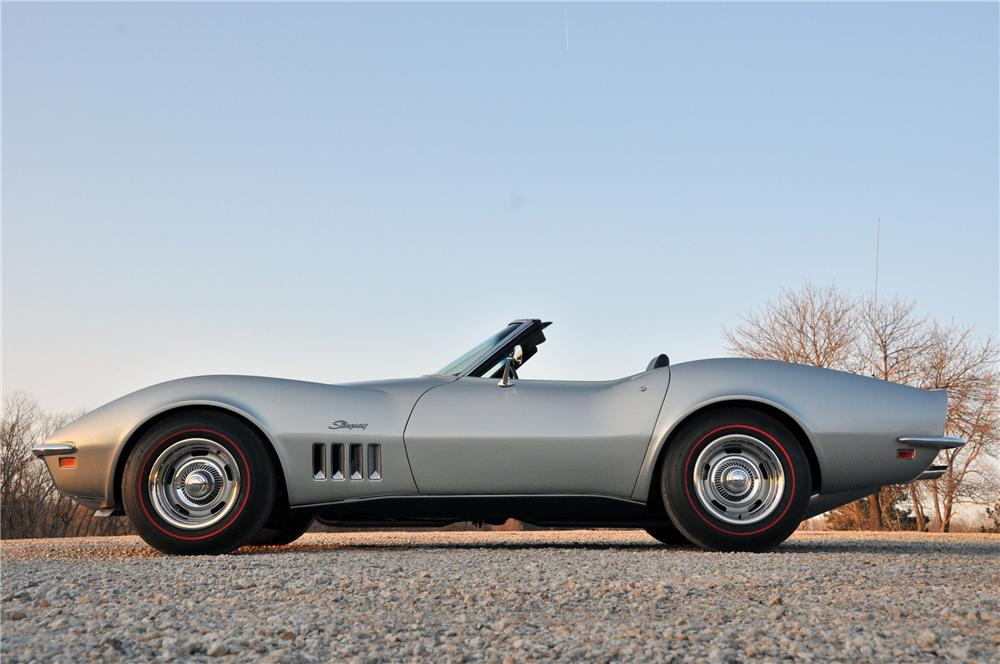 1969 CHEVROLET CORVETTE CONVERTIBLE - Side Profile - 82174