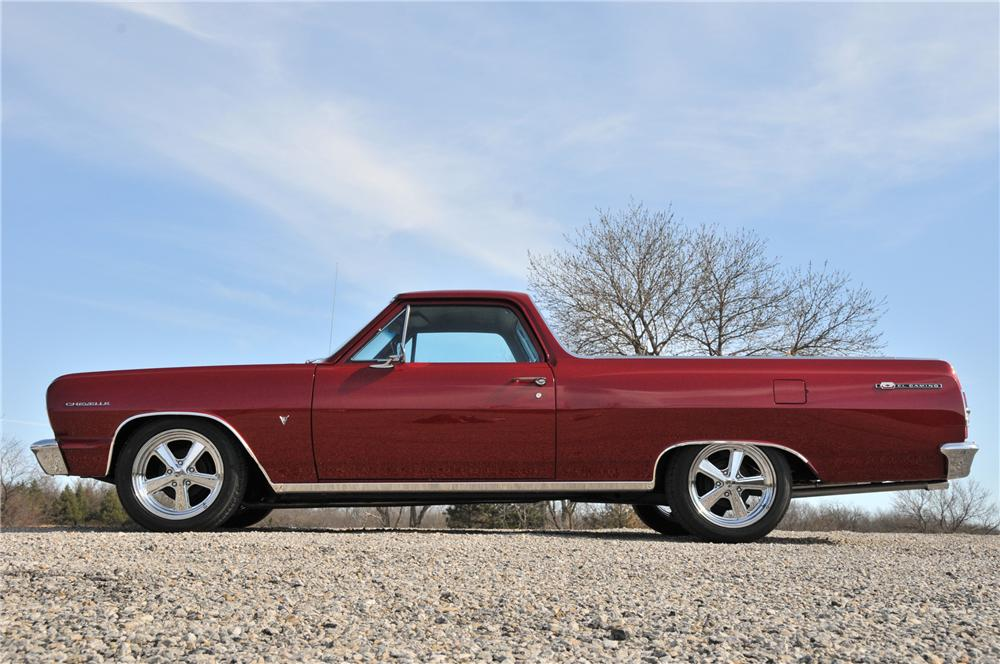 1964 CHEVROLET EL CAMINO CUSTOM PICKUP - Side Profile - 82176