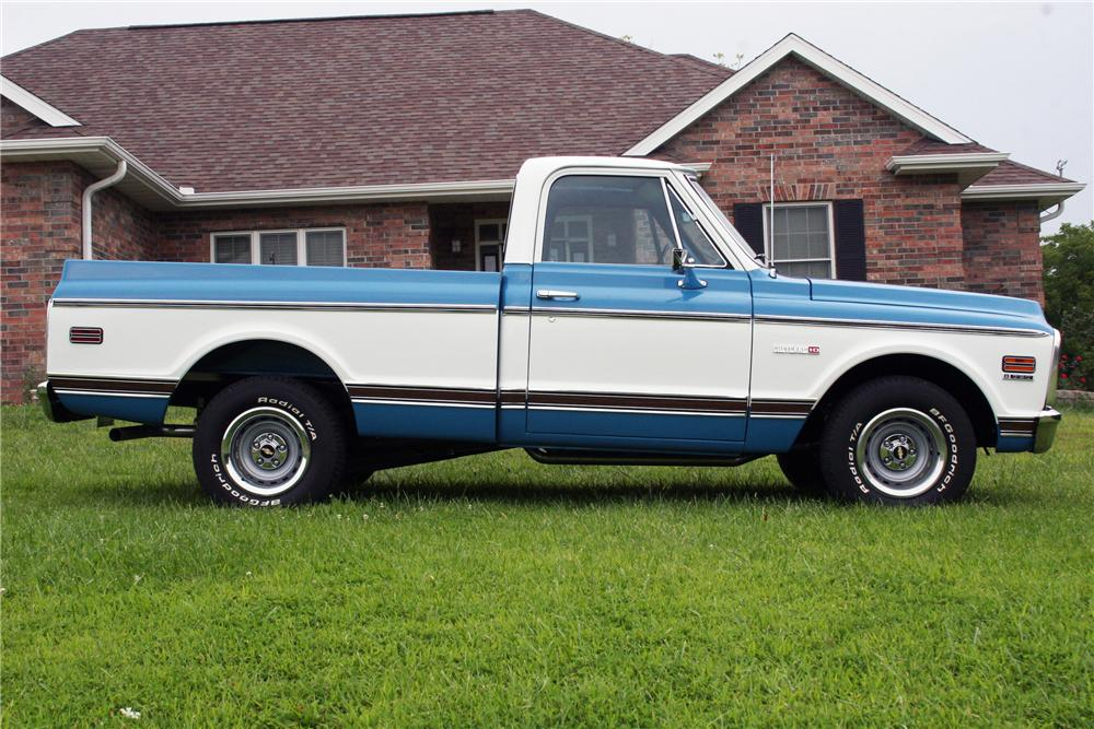 1971 CHEVROLET C-10 CHEYENNE PICKUP - Side Profile - 82178