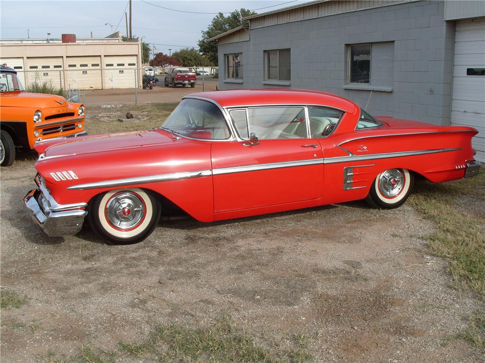 1958 CHEVROLET IMPALA 2 DOOR HARDTOP - Side Profile - 82179