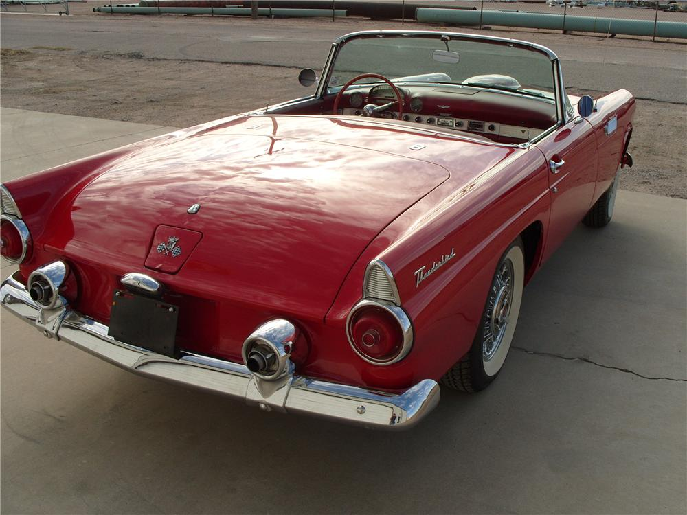 1955 FORD THUNDERBIRD CONVERTIBLE - Rear 3/4 - 82187